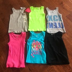 Other - Bundle of 6 girls size 5/6 tanks